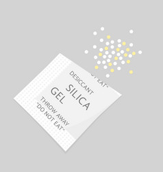 Packet with rolled out silica gel vector