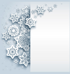 Paper snowflakes winter vector