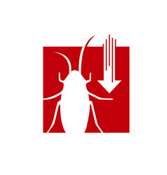 pest control logo design insect protection vector image