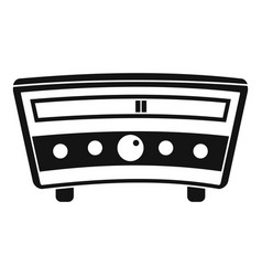 radio icon simple style vector image