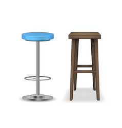 realistic detailed 3d bar stools set vector image