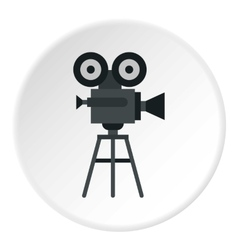 Retro film camera icon flat style vector