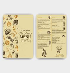 Sketch - vintage menu coffee vector