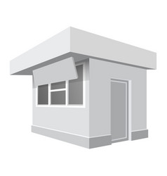 small shop mockup realistic style vector image