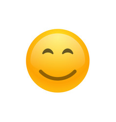 Smile face emoji icon vector