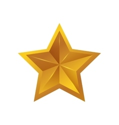 Star gold shape yellow icon graphic vector