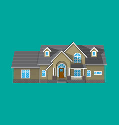 suburban family house countrysdie wooden building vector image