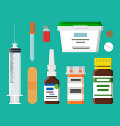 Syringe containers collection vector