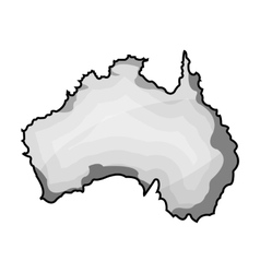 Territory of australia icon in monochrome style vector