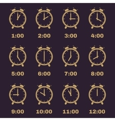 The Alarm Clock icon alarm clock symbol Set vector