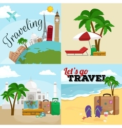 Travel concept Tourism and vector