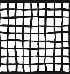 trendy handdrawn checkered seamless pattern vector image