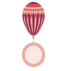 Vintage balloon with tag vector
