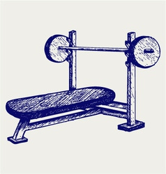Weight bench for chest flat vector image