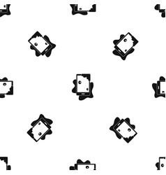 Wet phone pattern seamless black vector