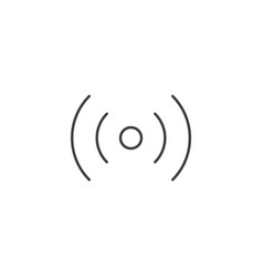 wi-fi wireless related line icon vector image