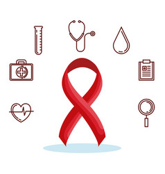 World hemophilia day set icons vector