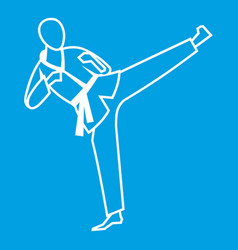Wushu master icon white vector
