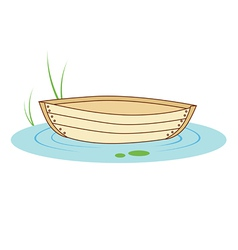 boat on a pond vector image vector image