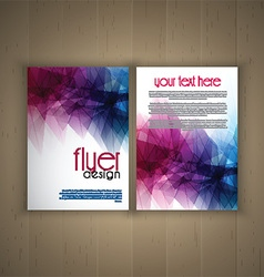 flier design on wood background 2701 vector image