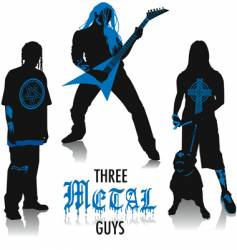 heavy-metal silhouettes vector image vector image