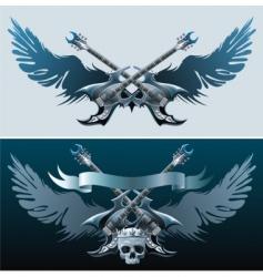 heavy rock symbols vector image