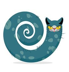 Snake cat Fantastic mythical pet Cute dreamlike vector image vector image