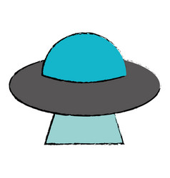 ufo invasion futuristic image vector image