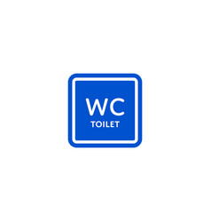 Wc toilet roadsign isolated on white background vector