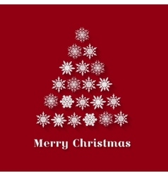 Christmas Greeting Card with Christmas tree vector image