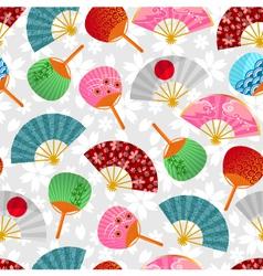 fan pattern vector image