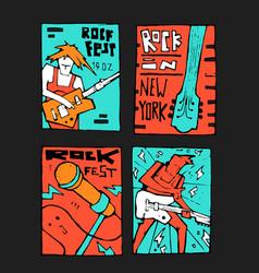 rock music festival poster vector image