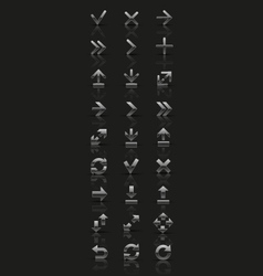 Set of silver icons vector image vector image