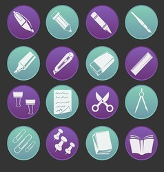 Stationery Icon Gradient Style vector image vector image