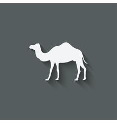 Camel design element vector