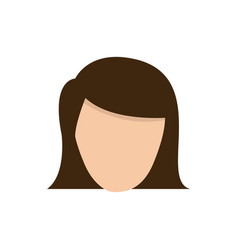 color face formal woman icon vector image