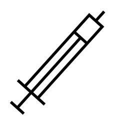 drug medicine syringe icon vector image