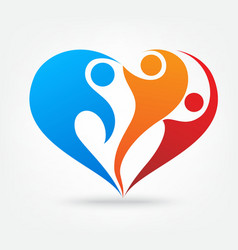 Family love icon vector image vector image