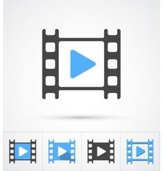 Film play trendy multi styles icon vector image