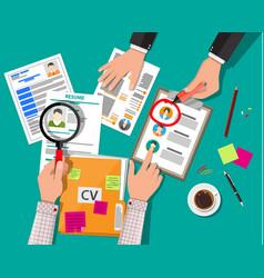 human resources management concept vector image