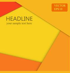 Orange background wallpaper banner design vector