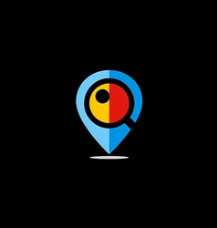 position GPS location icon logo vector image