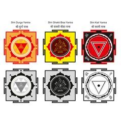 yantra set vector image vector image