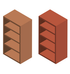 3d design for wooden shelves vector image
