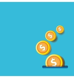 Abstract business background with falling coins vector