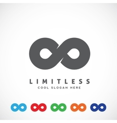 Abstract limitless symbol icon or a logo vector