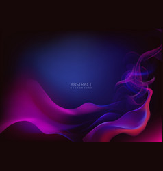 Abstract smoke effect background design vector