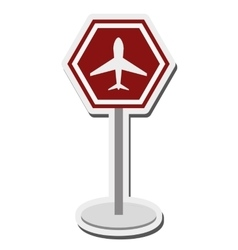 Airport sign icon vector