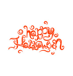 art card for happy halloweendesign template vector image