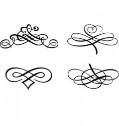 baroque curves vector image